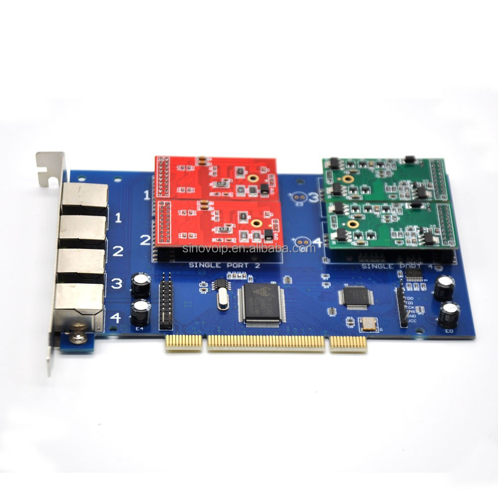 Wholsale TDM 400P PCI Asterisk card/FXS/FXO PCI card all using way same as Digium card