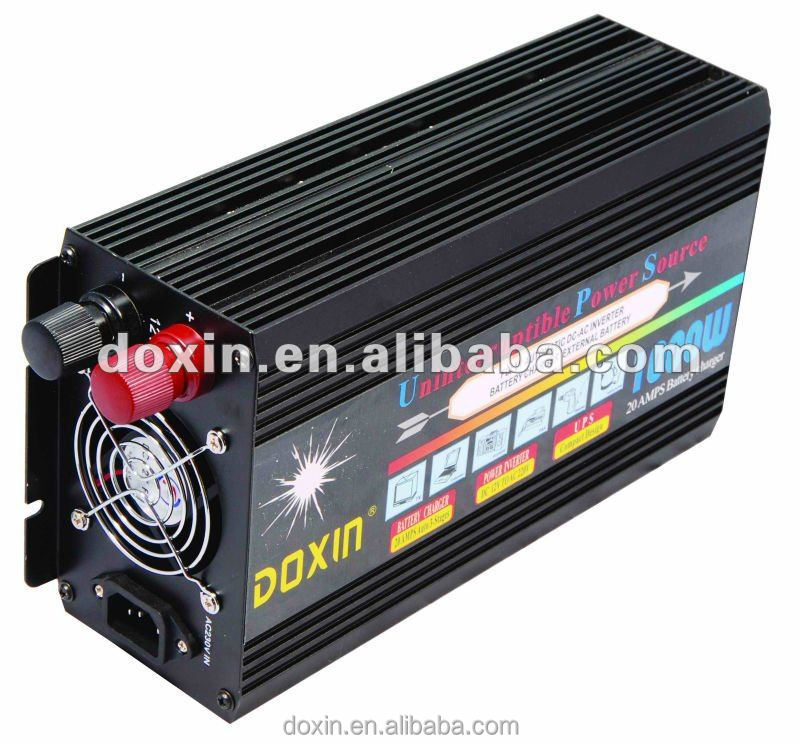 DOXIN 1kw modified sine wave ups inverter with inbuit charger 24v 110v ,dc 24v motor 1000w,mini solar power system supply 110v