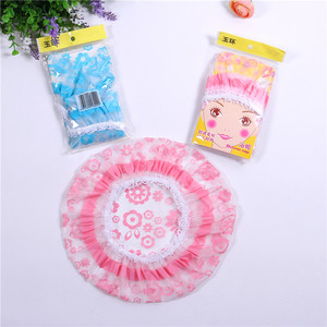 Customized Waterproof Hotel Printed Disposable Shower Cap,heap ldpe shower cap&shower cap making machine&shower cap bath hat