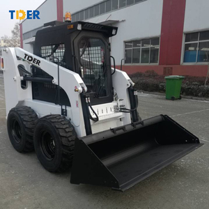 TIDER chinese 600kg 750kg mini skid steer loader with enclosed cab