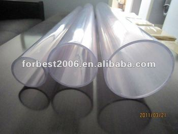 transparent PVC pipe with large diameter 160mmOD