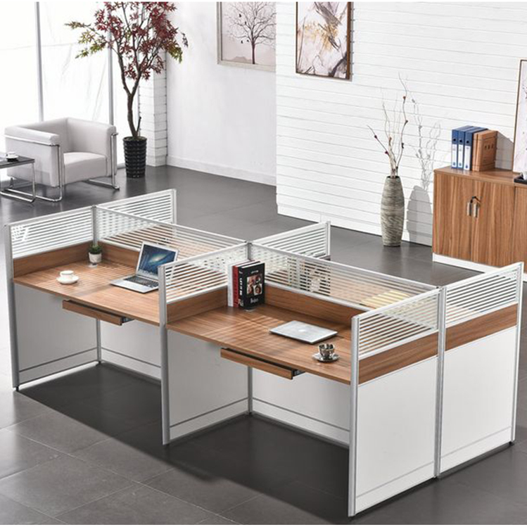 Saving Space Office Furniture Contemporary Office Cubicles 2-6 Seat Office Partition Workstations