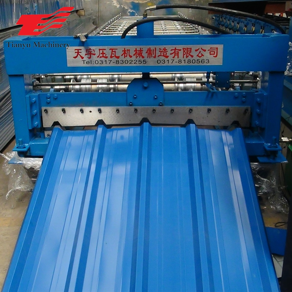 China Leverancier Zink Panel Trapeziumvormige Metalen Dakbedekking Roll Forming Machines Voor Verkoop