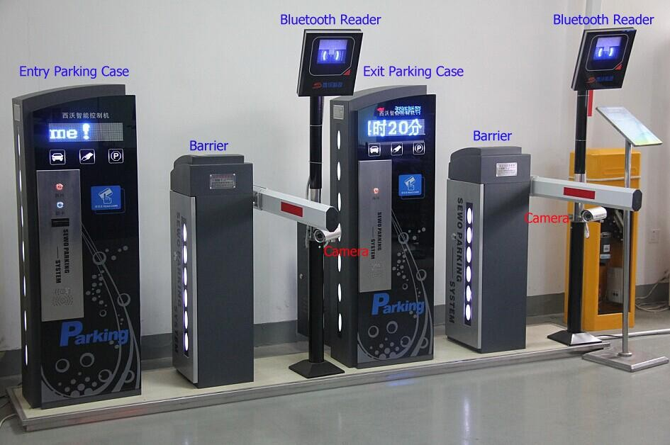Vehicle access control RFID dispenser automated payment car parking ...