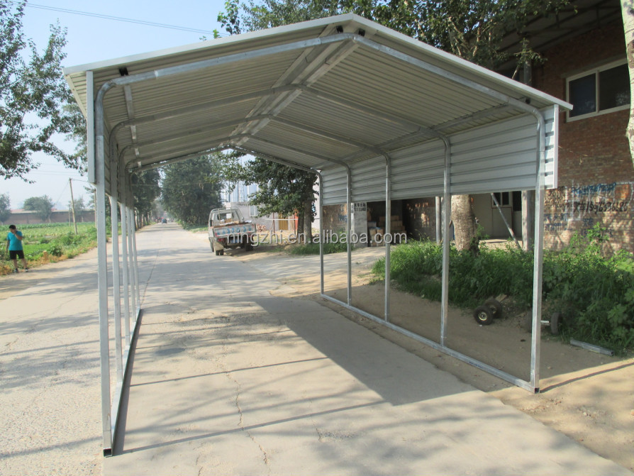 Steel Boat Shelter : New gable roof carport m car shelter vertical backyard