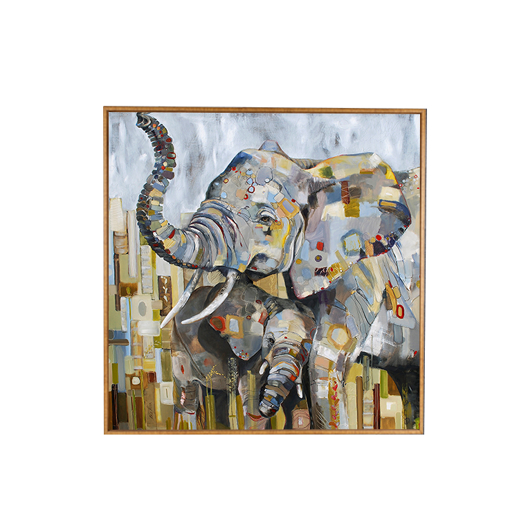 Yiwu factory wholesale inkjet printing pattern oil painting elephant,Abstract Elephant Paintings