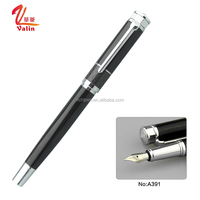 2017 New Arrival Innovative and Classical Metal Carbon Fiber Fountain Pen with Gold Tip