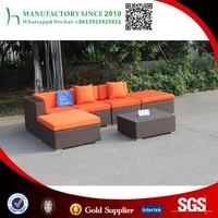 Best sell hotel outdoor sofa set with cushion sectional sofa furniture