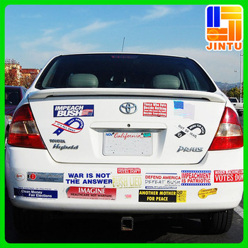 2016 wholesale bumper stickers sticker car design