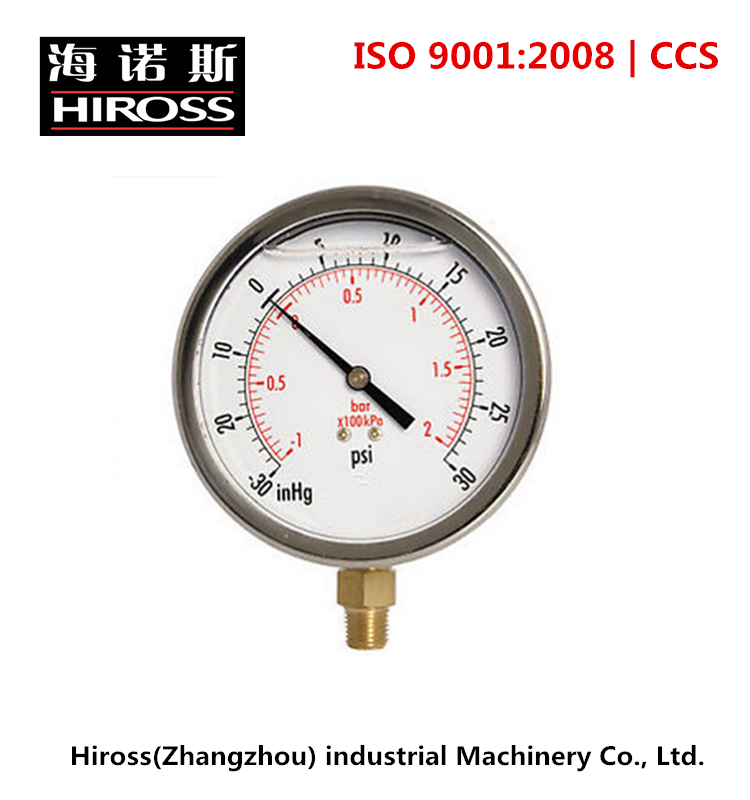 ISO9001 certified Oil Filled Vacuum Pressure Gauge with best price
