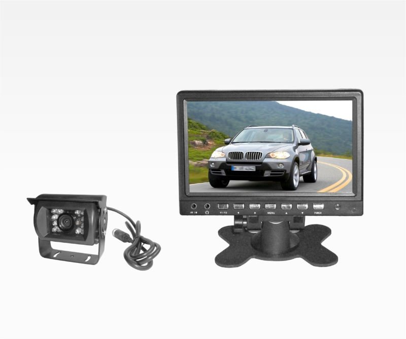Car rear view mirror monitor with view camera