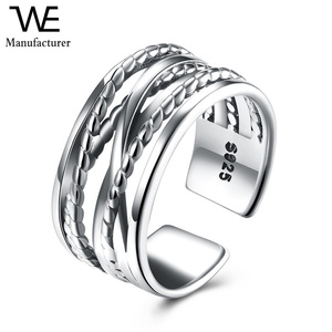 Fashion Big S925 Sterling Silver Ring for Women Wedding Jewelry