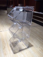 Retail Store Candy Box Nuts Grain Bulk Food Gravity Bin Dispenser for sale