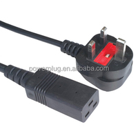 UK market power supply cord, female power cord and IEC C5 plug