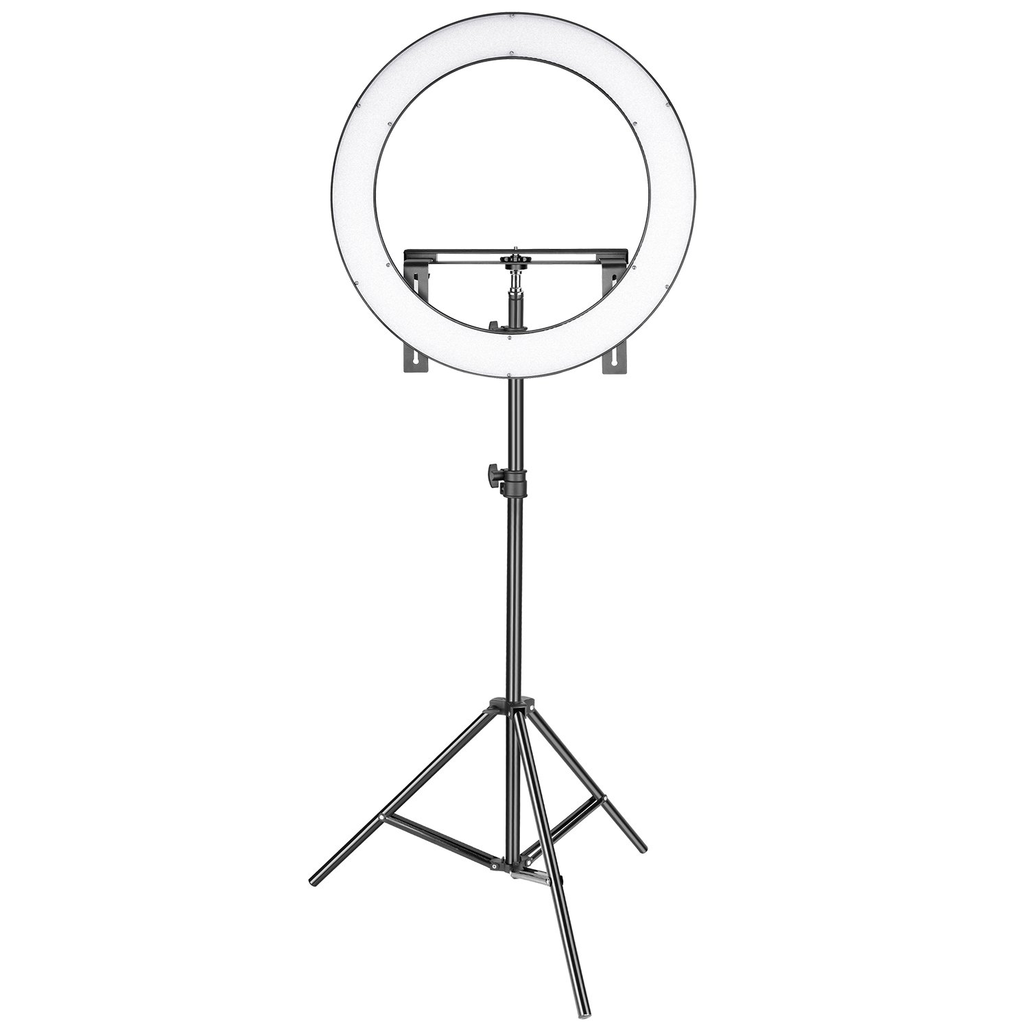 Neewer Photo Studio LED Ring Light Lighting Kit - 19-inch Outer 14-inch Inner 3200-5600K CRI 96+ Dimmable Bi-color SMD LED Ring Light with Bracket, 2-meter Light Stand for Portrait Video Shooting