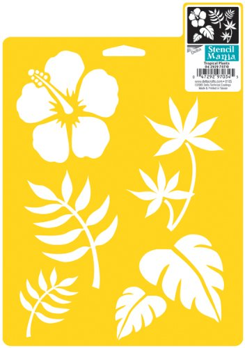 Delta Creative Stencil Mania Stencils, 7 by 10-Inch, SM97-0710 Tropical Plants