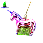 Christmas tree decoration accessories creative glass cartoon unicorn ornaments