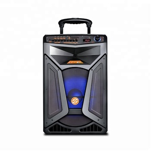 15 Inch New Plastic Party Active DJ PA Subwoofer Trolley Party Speakers