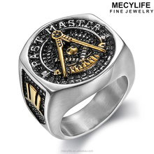 MECYLIFE AG Ring Religious Ring Stainless Steel Antique Masonic Rings