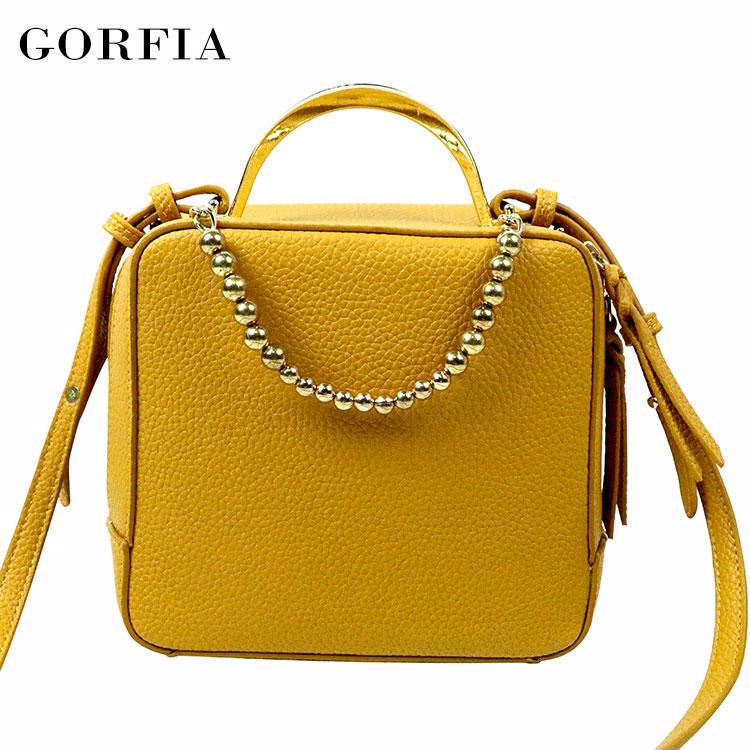 Guangzhou hot selling fashion women yellow designer branded luxury handbag