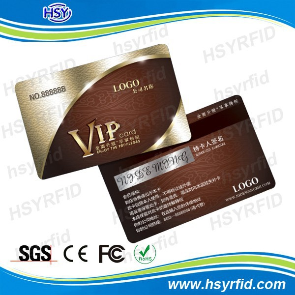 Printing signature strip VIP access PVC card plastic card