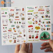 1 Pack 6 Sheets Cute Pig Transparent Calendar Diary Book Sticker Scrapbook Decoration Children's Stationery Sticker
