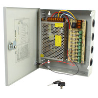 9CH DC12V 10A Power Supply Distribution Box CCTV Security Surveillance Camera