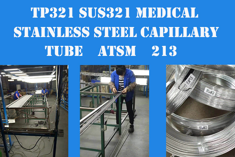 Roestvrij Staal Capillaire Pijp Coiling 304 AISI ASTM JIN DIN OEM Service
