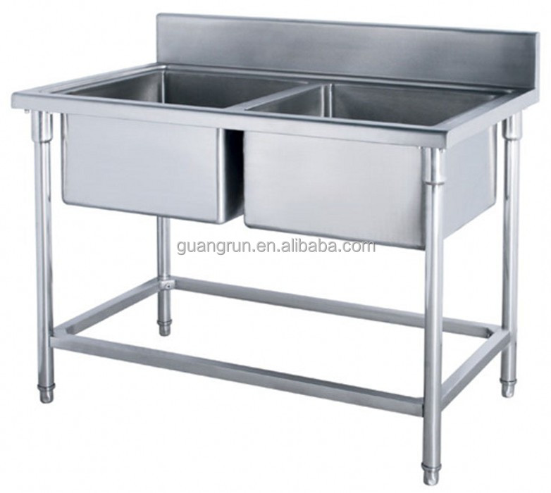 Restaurant Used Double Bowls Free Standing Commercial Stainless Steel  Kitchen Sink Gr 310b   Buy Double Bowl Food Service Sink,Industrial Sink, Sink With ...