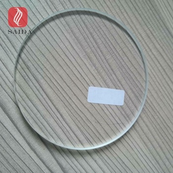 Custom Ultra clear low-iron tempered glass 6mm , round shape 4inch glass coaster with grinded edges