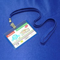 id badge business card holder Plastic Vertical Work Credit Card Holders