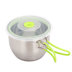 Stainless Steel Portable Hiking Cookware Camping Outdoor Cookware