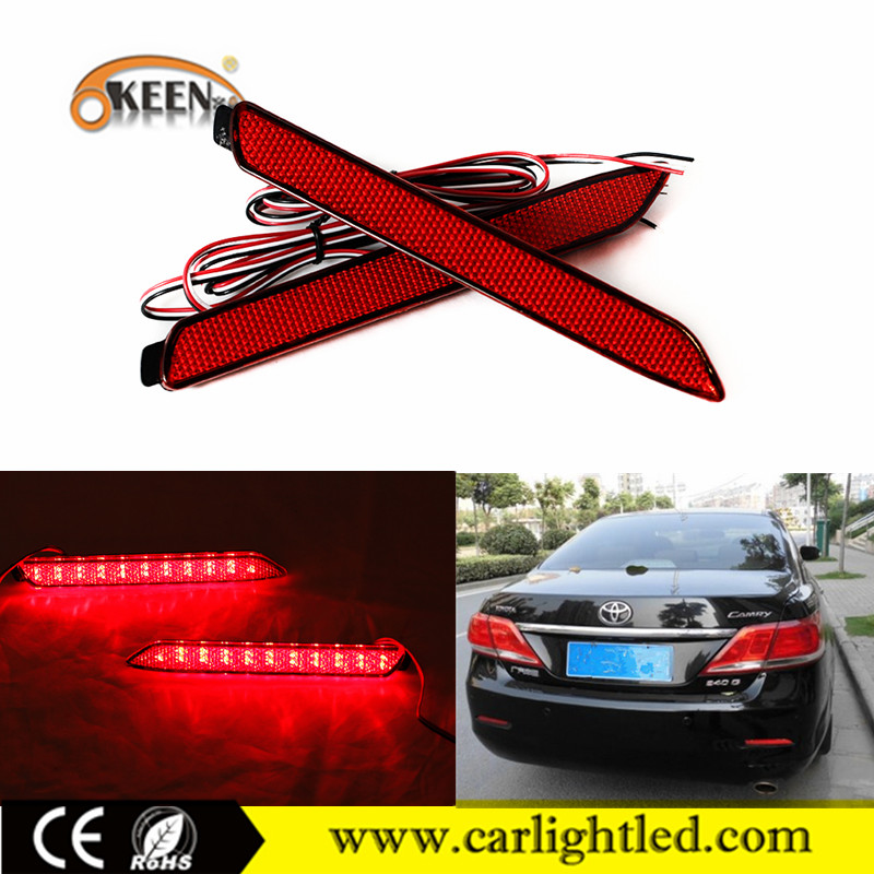 12V Red 6W Warning LED Car Rear Light Bumper Reflector Lamp For Toyota Camry/Lexus ISF(2008)/GX470(03-09)/RX300/Toyota Innova