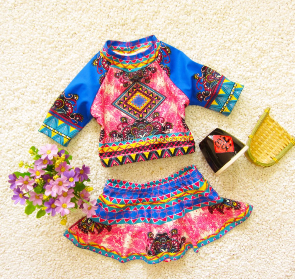 Girls clothing South Korean floral print baby girl swimsuit