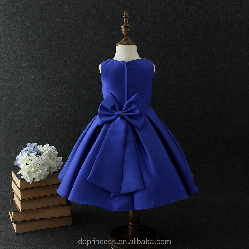 d22c5c97ebe9 Latest Design Formal Evening Gown Frock Design For Baby Girl Navy ...