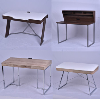 Study Table Wooden Modern Simple Computer Desk Design Socket Computer Table