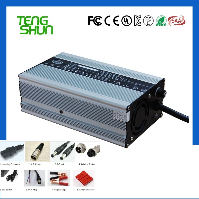24v 20a 48v 10a 60v 8a 72v 6a 600Watts metal lifepo4 battery charger