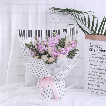 2019 Fashion Keyboard Flower Wrapping Film For Ready to ship