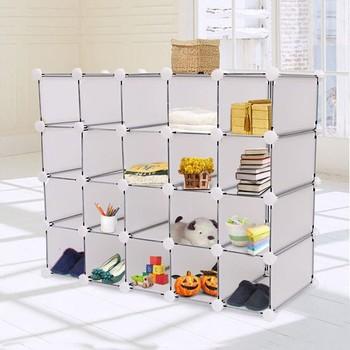 20 Cube /16 Cube/12cube/Interlocking Cube Organizer Plastic Storage Shoe  Rack Display