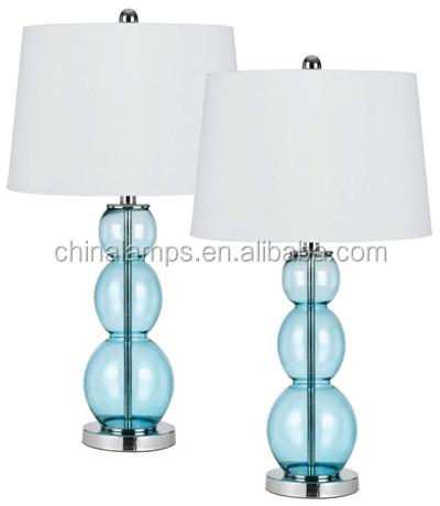 Made In Zhongshan Fashion Design Blue Gourd Shaped Glass Desk Lamp ...