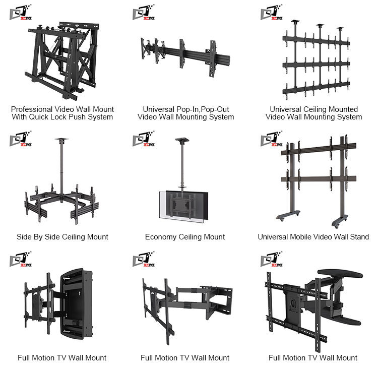 Factory Direct Gas Spring LCD Folding TV Wall Mount With 24Inch Wall plate