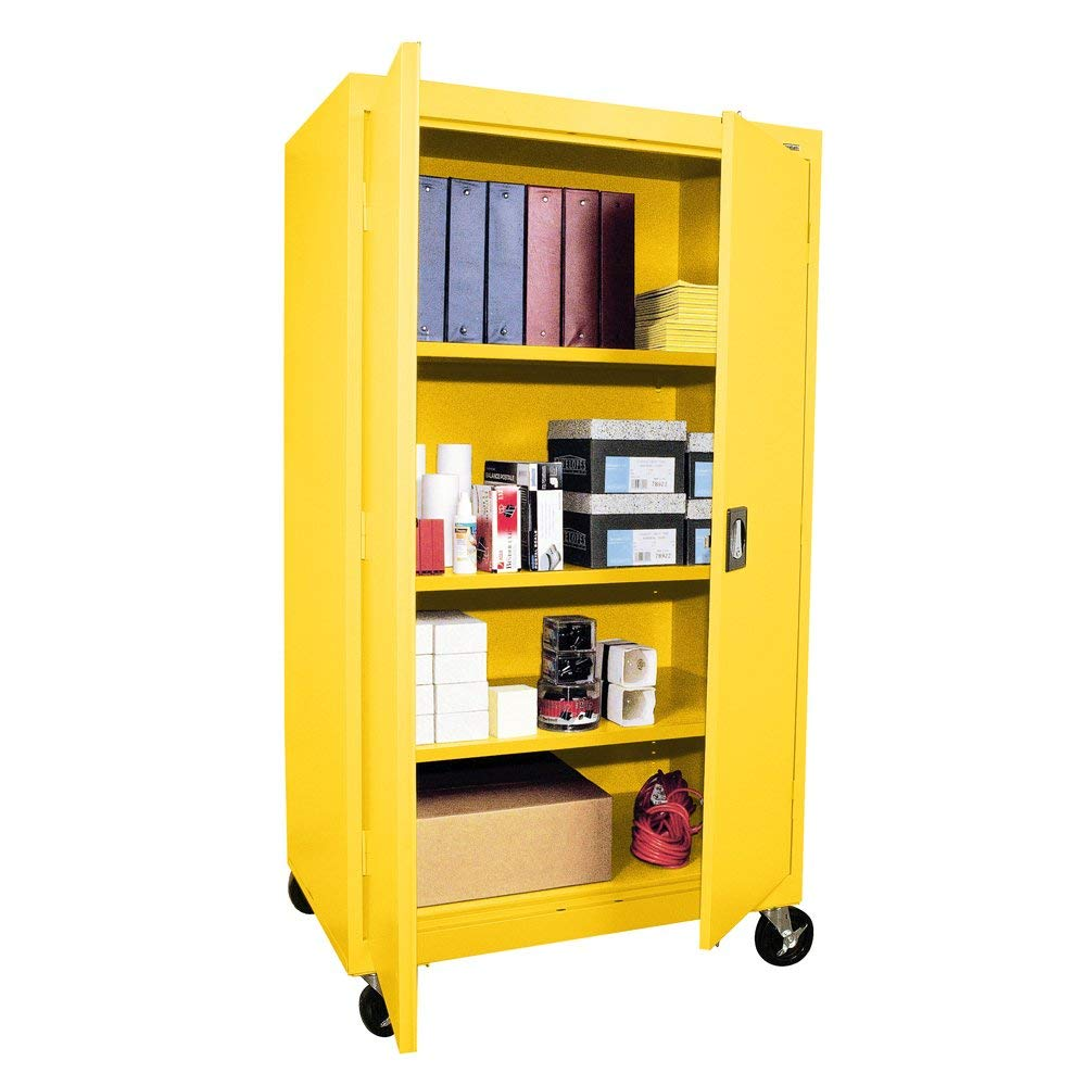 Sandusky Lee TA3R362460-EY Transport Series Mobile Storage Cabinet, Yellow