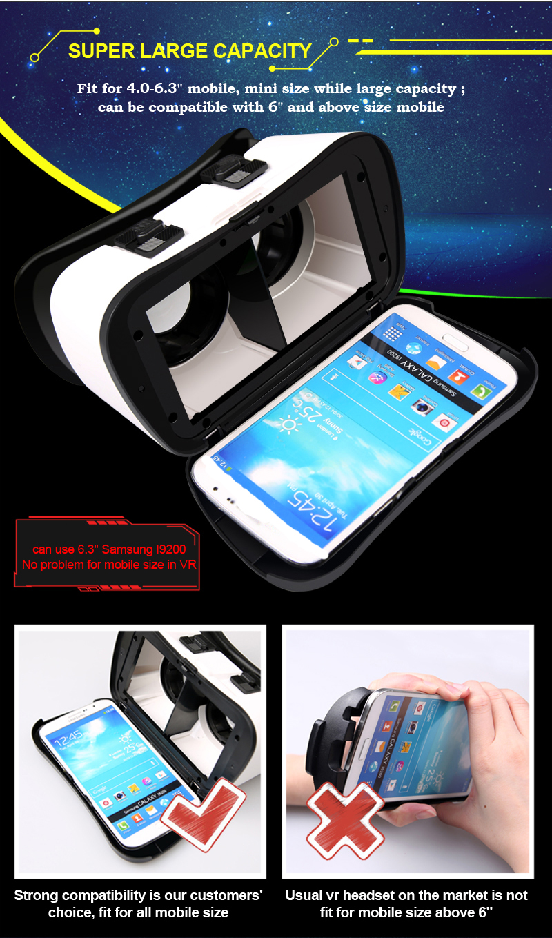 カスタマイズされたロゴ利用可能な 40 ミリメートルレンズ VR バーチャルリアリティ VR メガネ 3d VR ヘッドセット