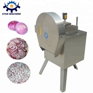 Automatic onion slicing machine and onion cutting machine