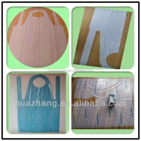 plastic PE apron for hair color