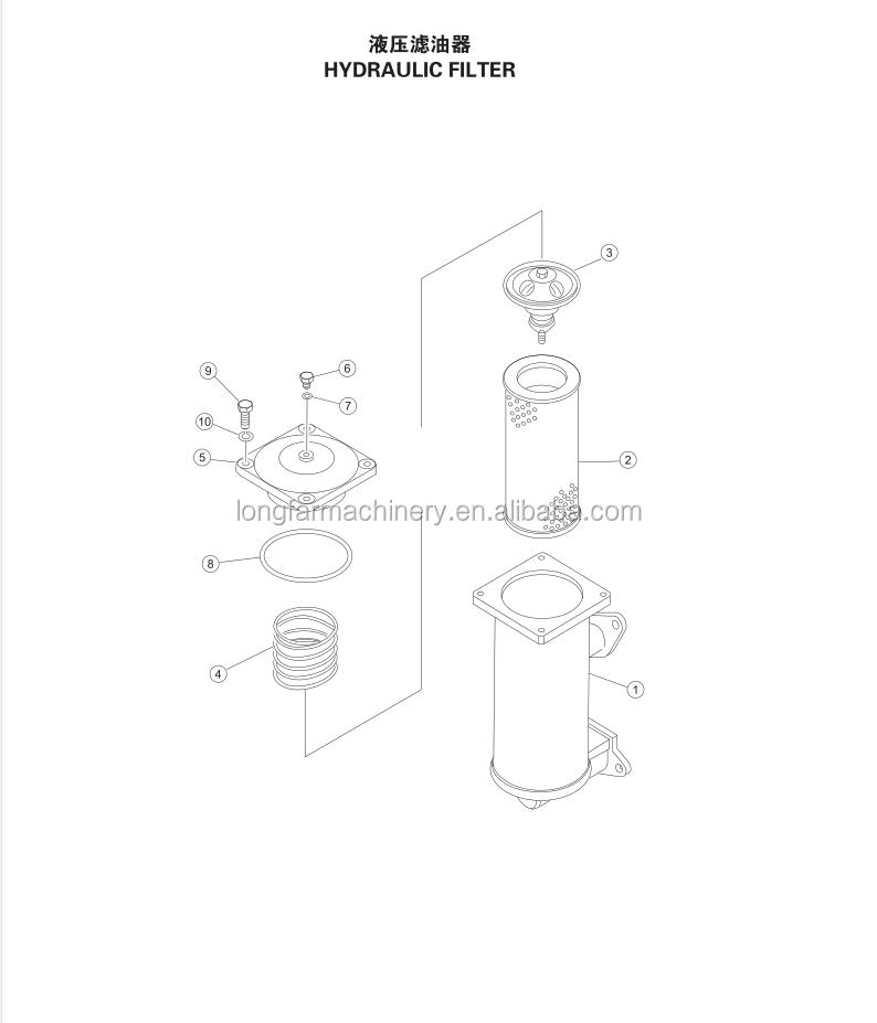 Catlogo De Fabricantes De Shantui Sd22 Filtro Hidrulico De Alta