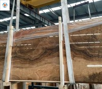 High polished Imperial yellow wood vein marble for project