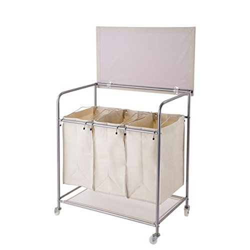 Get Quotations Brown Nylon Heavy Duty Laundry Sorter With Ironing Board And Wheels