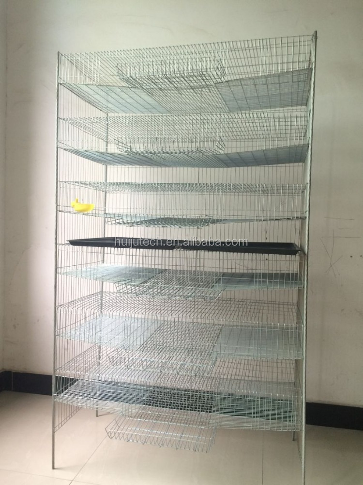 High rate H type quail cage HJ-QC400A for 400 quails