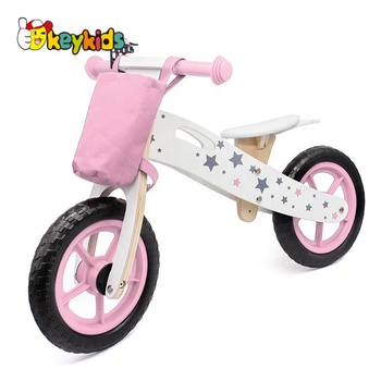 2018 hot sale kids wooden bike,popular wooden balance bike,new fashion kids bike W16C194